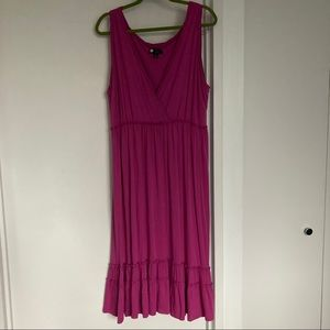 Carole Little Jersey Sleeveless Dress VNeck 1X